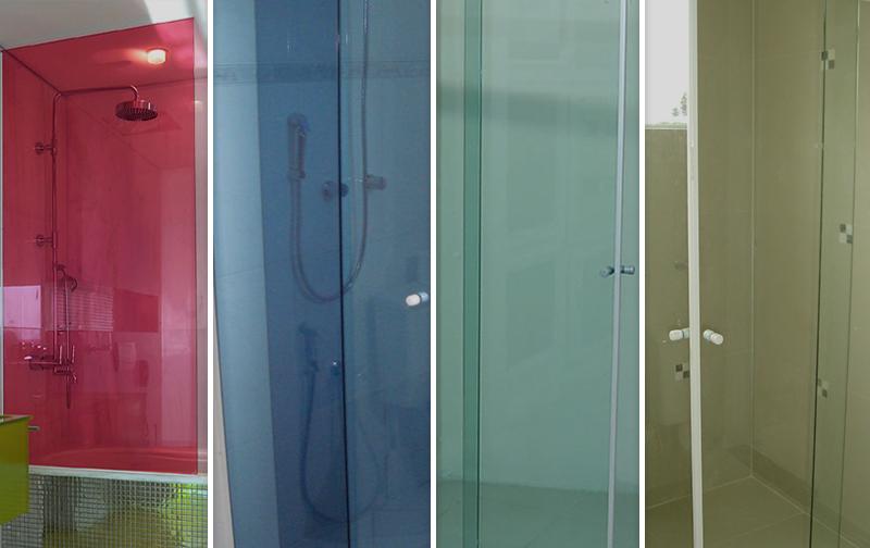 Diferentes cores de Box de vidro