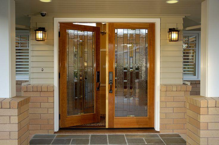 Porta de vidro temperado fachada
