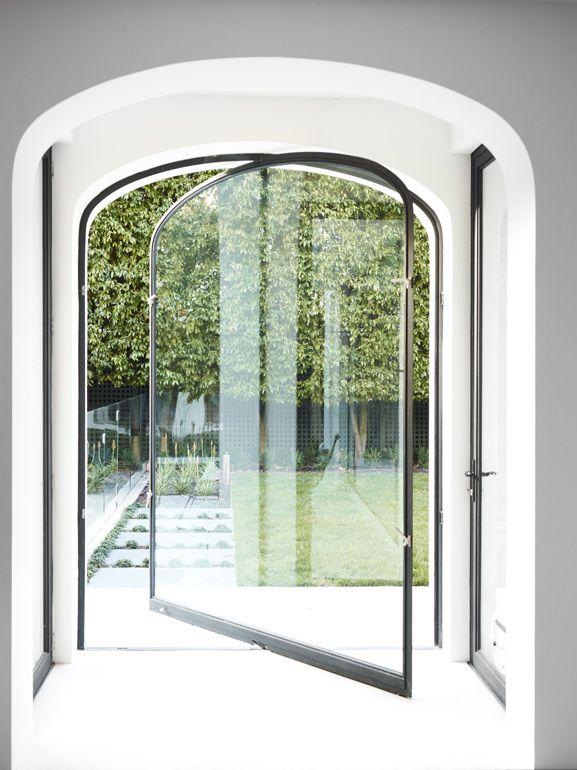 Porta de vidro temperado modelo 5