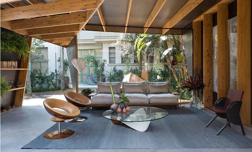 mobílias de vidro