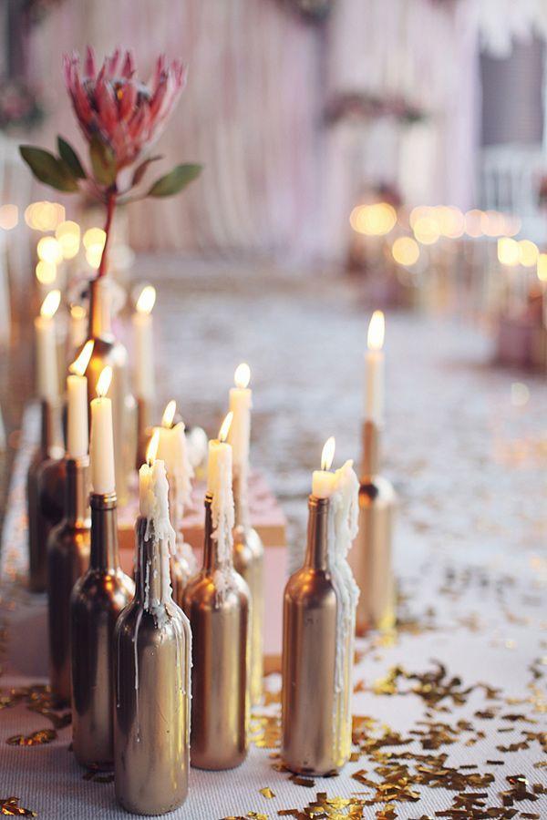 garrafa decoração casamento