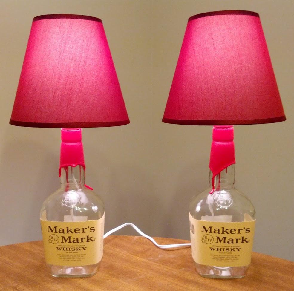 luminaria de garrafa