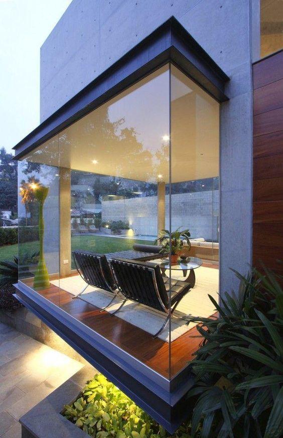 acabamentos para janela de vidro