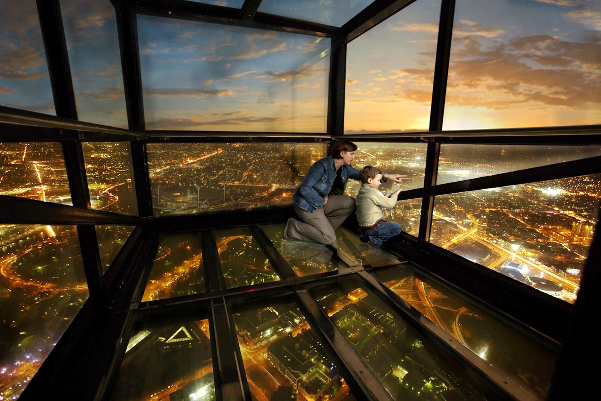caixa de vidro Eureka Tower