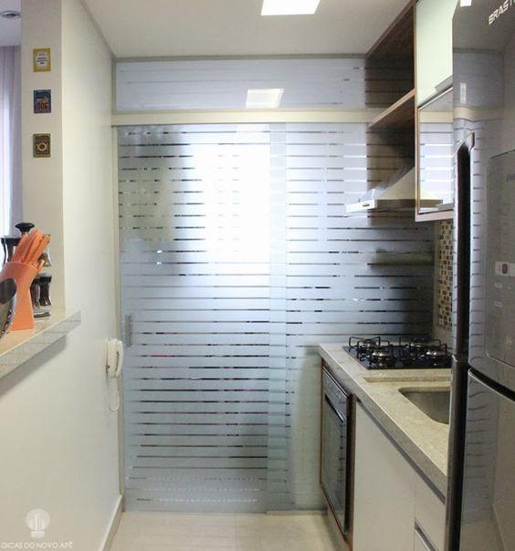 porta de vidro cozinha