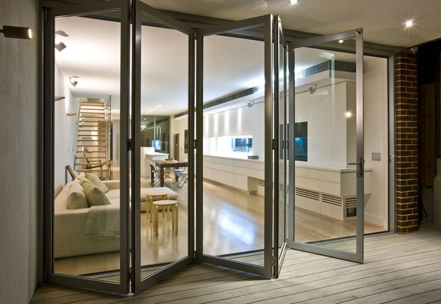 instalação da porta de vidro