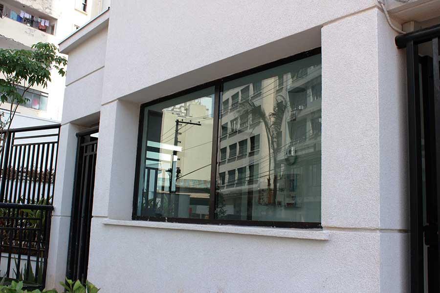janela vidro blindado