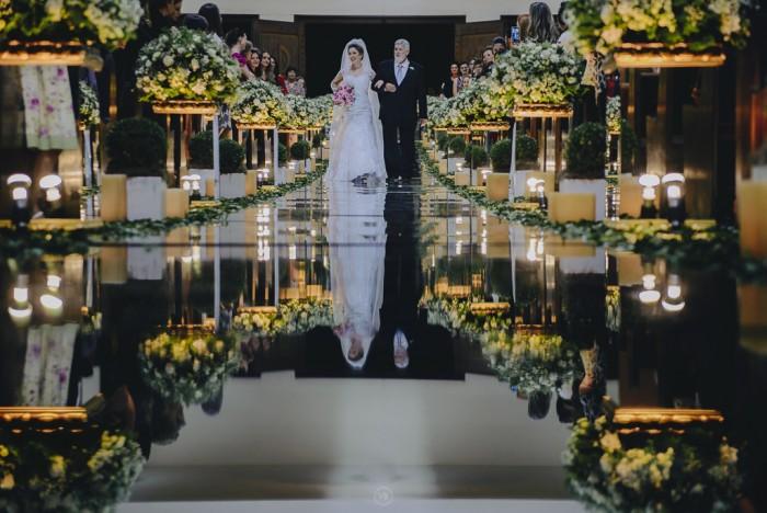 espelho em decoração de casamento