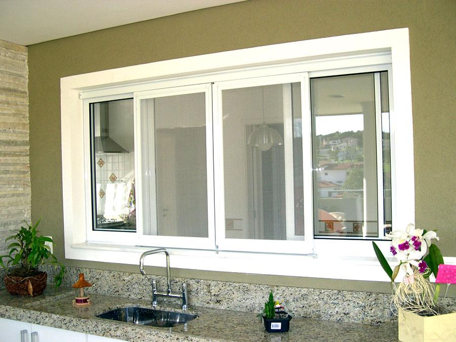 janela de correr branca