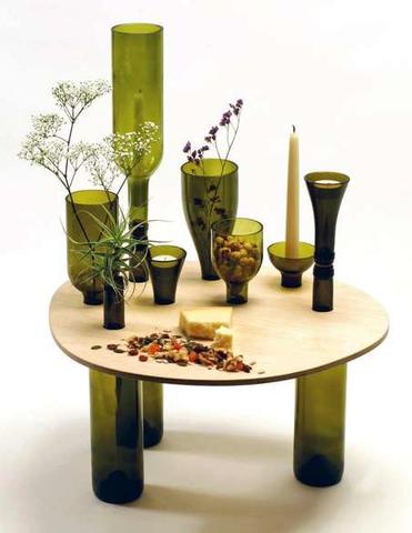vidro reutilizado decoração