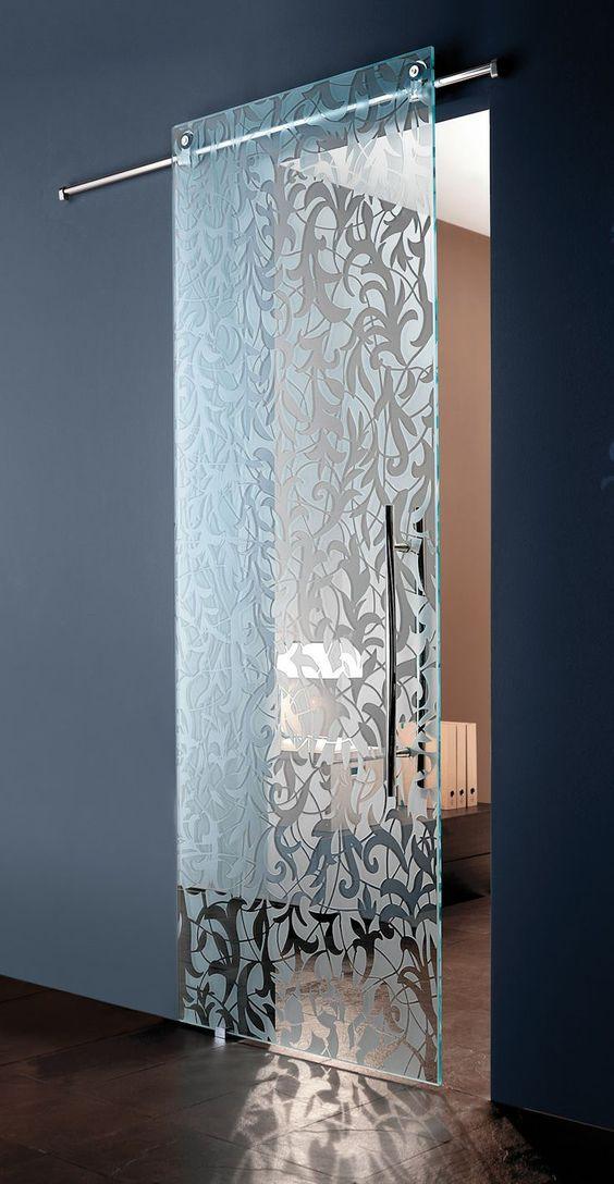 porta para banheiro de vidro