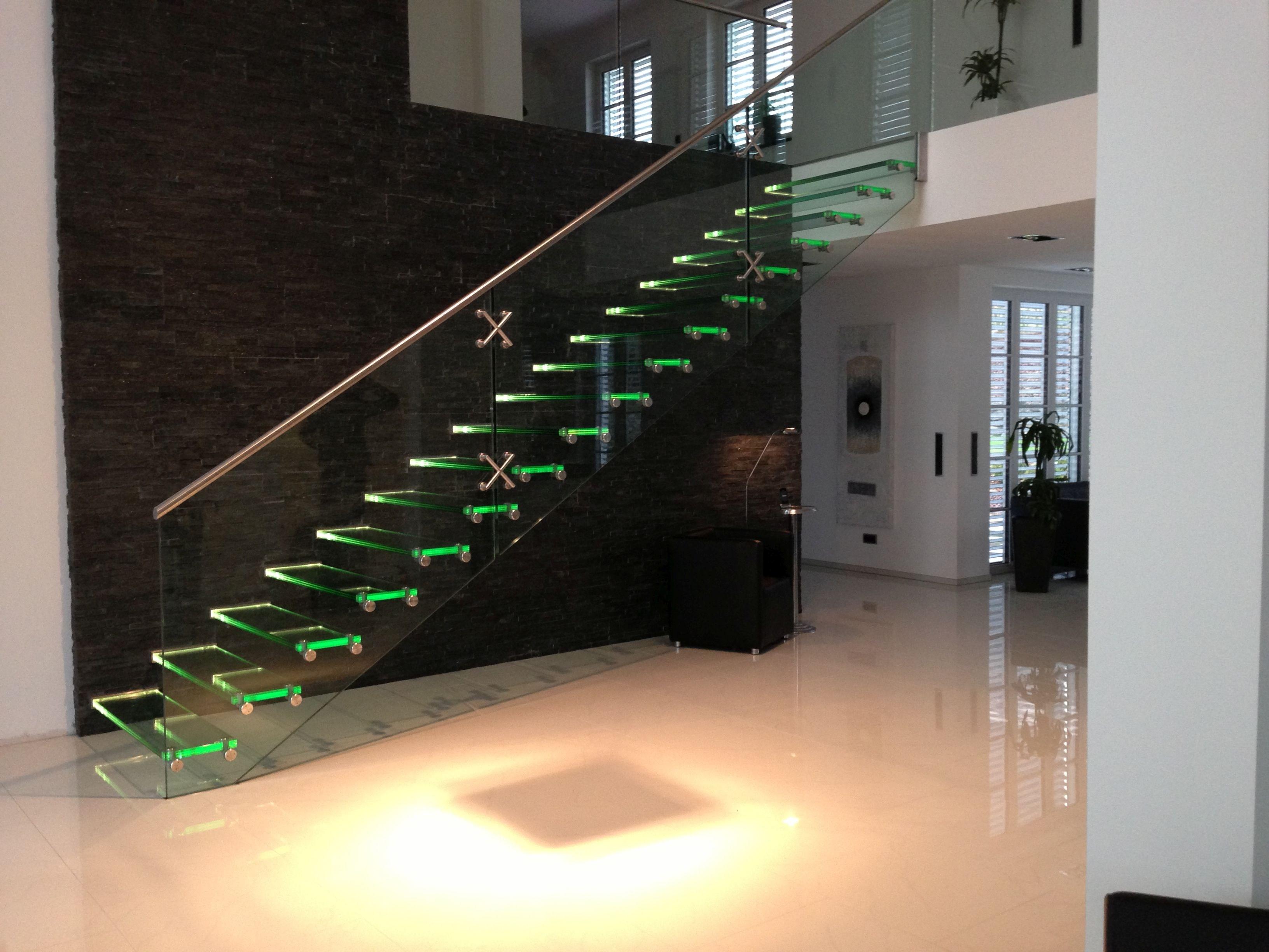 escada com led
