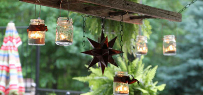 luminária de vidro decoração