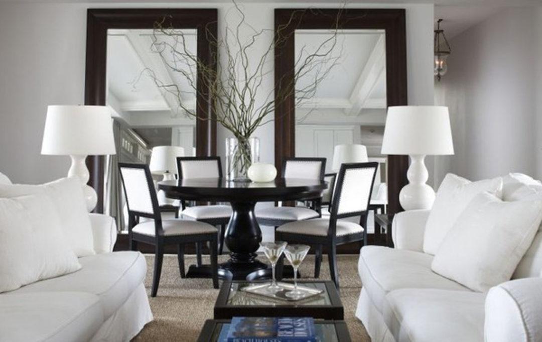 espelho preto e branco decoração - tipos de espelhos