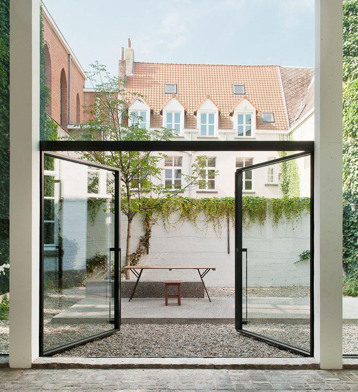 porta de vidro temperado quintal