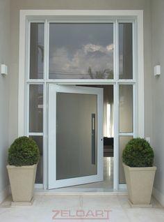 Porta de vidro temperado fachada 1