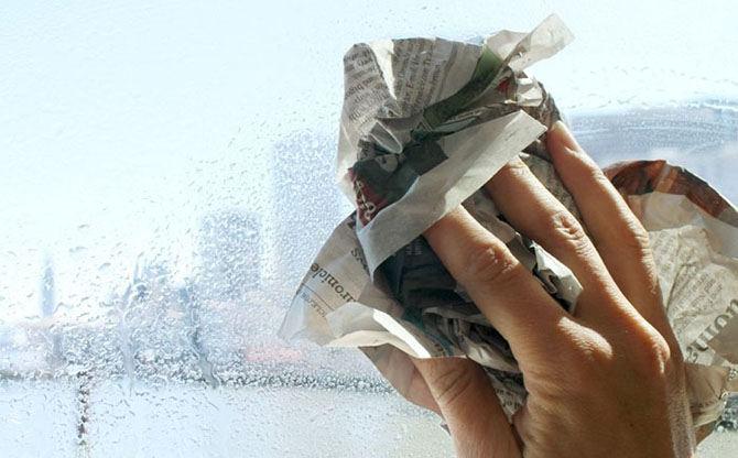 limpeza dos vidros