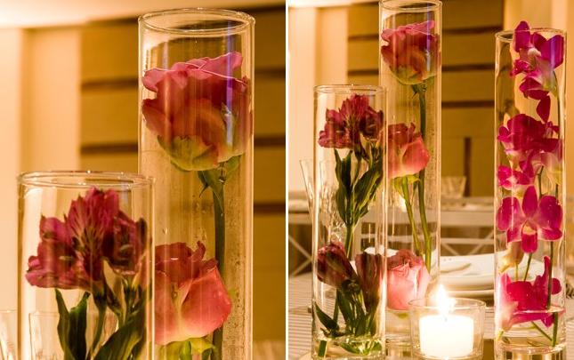 vaso de vidro reutilizado