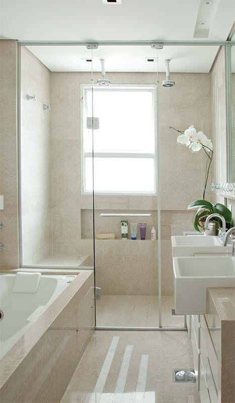 janela de vidro temperado banheiro