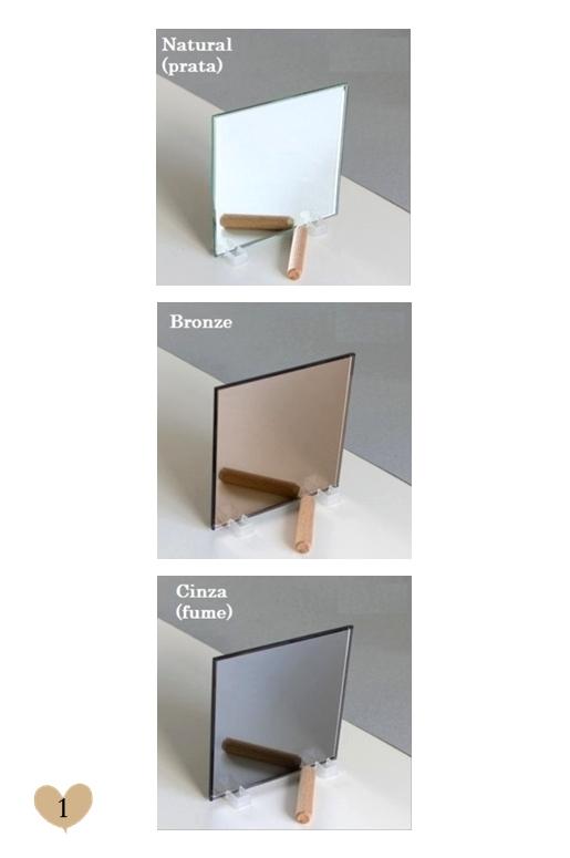 Comparação entre Vidro Fumê e Bronze