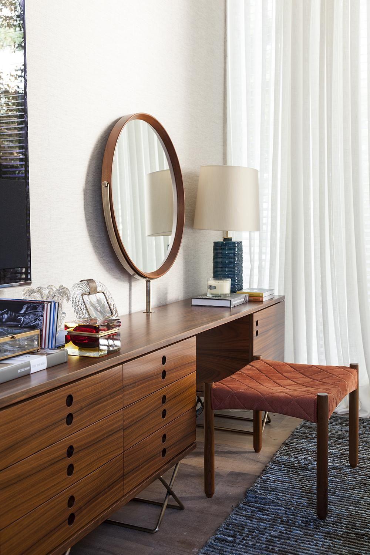 espelho redondo em quarto - tipos de espelhos